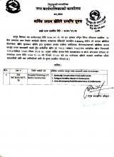 Information regarding opening of financial proposal